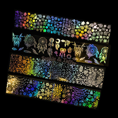 Holographic UV Resin Thin Film (8 pieces)