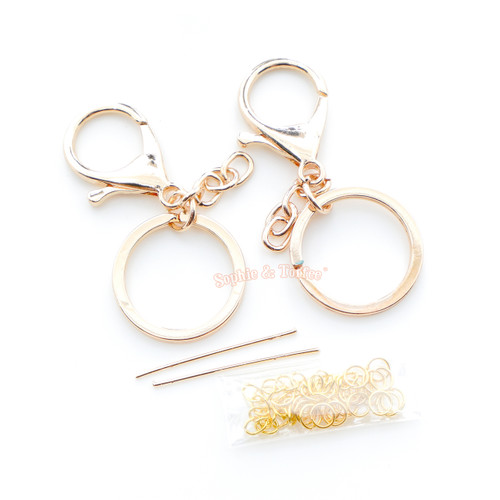 Keychains with Chain Finding Set (Rose Gold)