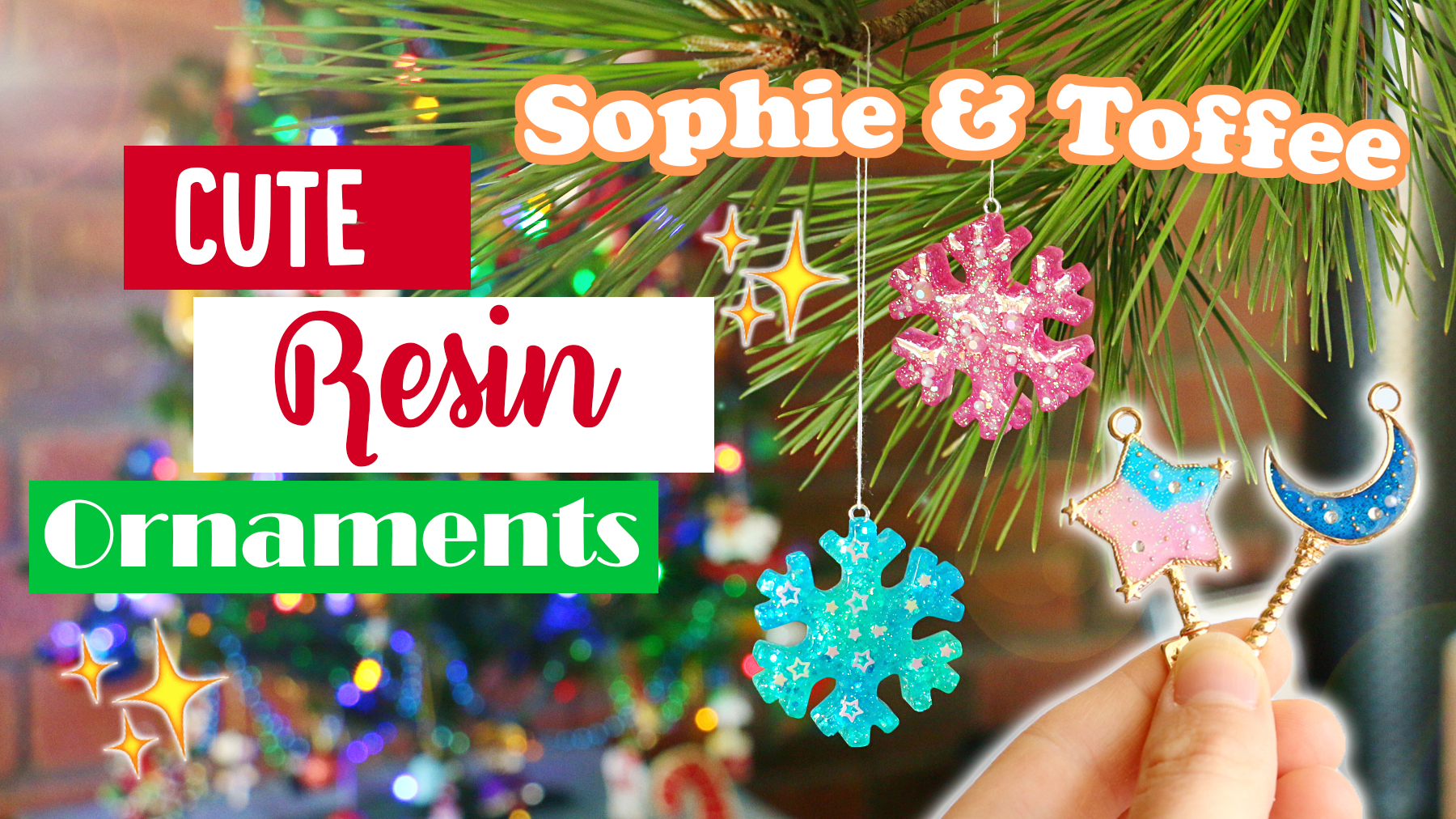 November Christmas Box - Cute Resin Ornaments