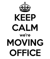 Announcement: Keep Calm, We're Moving Office!