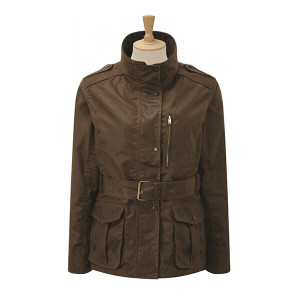Caldene Figsbury Belted Wax Country Jacket - Antique Brown