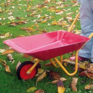 Carrimore Steel Childrens Wheelbarrow - Red