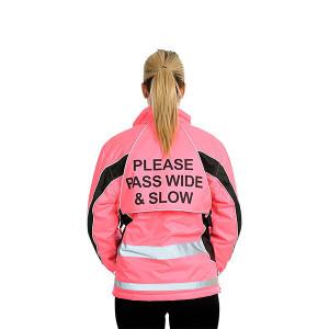 Equisafety Polite Aspey Winter Jacket - Pink Hi-Viz