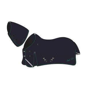 Mark Todd Heavyweight Turnout Rug with Neck Included - Navy & Jade