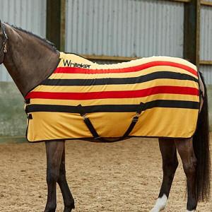 John Whitaker Holywell Fleece Rug - Striped Yellow/Red/Black