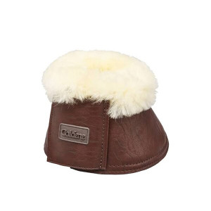 Caldene Sheepskin Over-Reach Boots - Vintage Brown