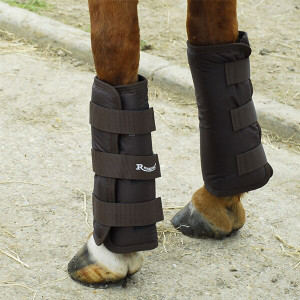 Rhinegold Elite Half Travel Boots - Set Of 4 - Brown