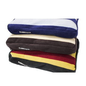 Horseware Rambo Deluxe Dog Bed - Whitney Stripe Gold Chocolate Navy - Small