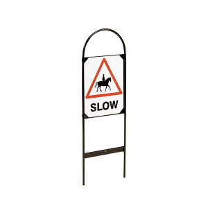 Stubbs Double Sided Tread In Markers - Horse SLOW Sign