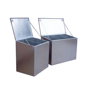 Saddlers Galvanize Steel Triple Feed Bin - 500 Litre