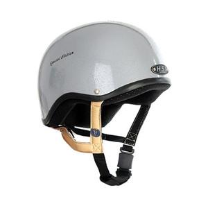 Gatehouse HS1 Jockey Skull Riding Helmet - Silver