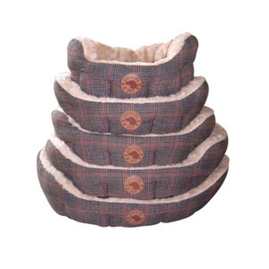 Country Pet Luxury Tweed Dog Bed - Small 55cm x 45 cm