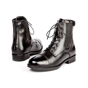 Elico Bramhope Zip / Lace Paddock Boot - Black