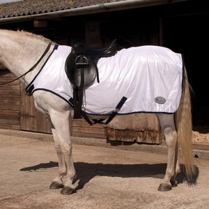 Rhinegold Ride On Fly Rug White and Black