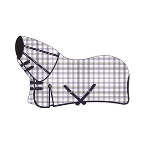 Mark Todd Comprehensive Combo Rug - White & Navy Gingham