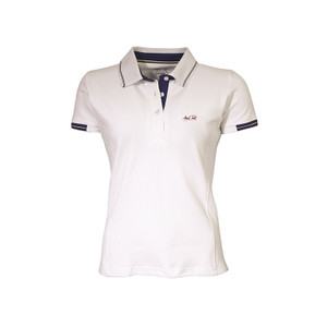 Mark Todd Betty Short Sleeve Polo Shirt - White