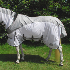 Rhinegold Masai 2 Combined Outdoor / Fly Rug - Silver Grey
