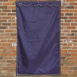 Mark Todd Large Stable-door Drape - Navy and Silver