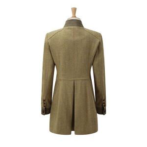 Caldene Rosedene Military Country Coat - Tweed Sage