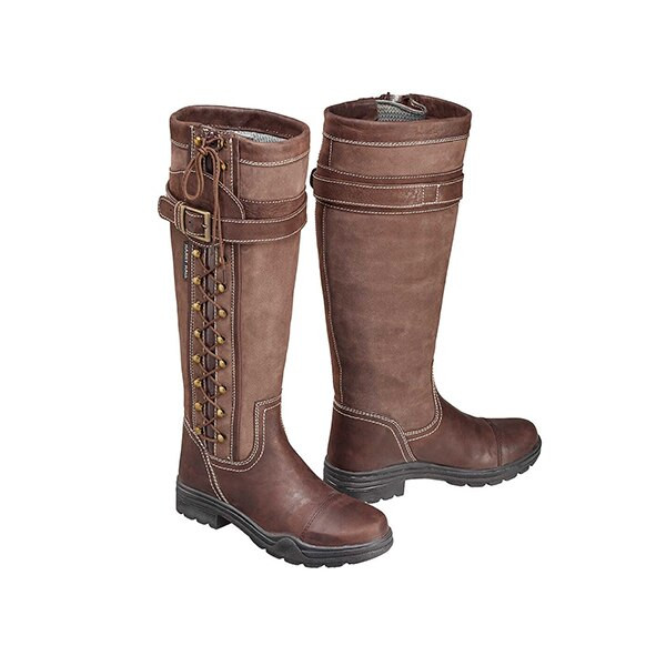 Harry Hall Long Country Boots - Overstone Brown