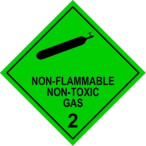Non-Flammable Non-Toxic Gas 2 (Model No 2.2)