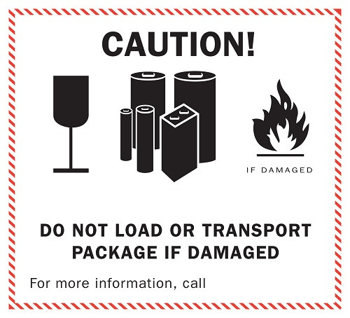 Lithium Battery Caution Labels