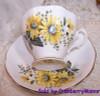 Royal Albert Yellow Black Eyed Susan Tea Cup & Saucer England Vintage Mid Century 1950s English Designer Gift