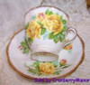 Royal Albert Yellow Tea Rose Cup & Saucer from England Vintage Mid Century 1950s English Designer Fine Bone China Gift
