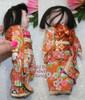 Ichimatsu Gofun Ningyo Kawaii Composition Toy Doll from Japan w/Original Silk Kimono Vintage 1930s Japanese Designer Geisha Girl