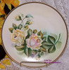 Yellow & Pink Rose Charger Plate by Eagle China Austria Vintage 1970s Austrian Designer Gift