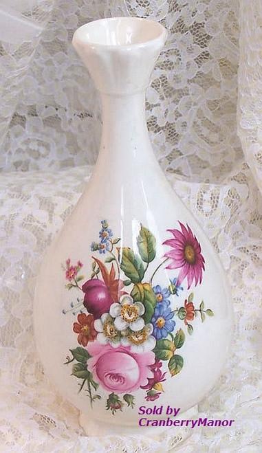 Pink Ludlow Bud Vase by Coalport China England Vintage 1980s English Designer Gift