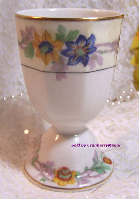 Theodore Haviland Limoges France Miami Double Bowl Egg Cup Vintage 1920s French Designer Gift