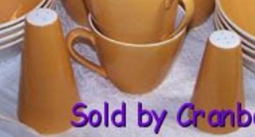 Goldenrod Mustard Yellow Salt & Pepper Shaker Set Johnson Bros England Vintage 1950s Mid Century English Designer Gift