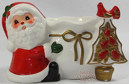 Napco Napcoware Japan Christmas Santa Claus Votive Candle Holder Candleholder Vintage Japanese Designer Gift