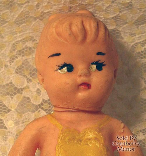 Elizabeth Rubber Squeaker Toy Doll Vintage Mid Century 1950s Designer Gift