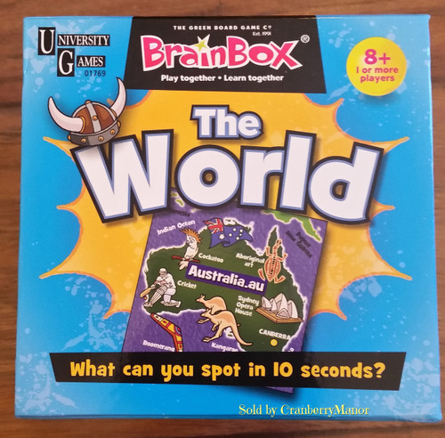 University Games Brainbox Discover World Educational Game - The 10 Minute Brain Challenge