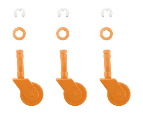 P11A050LD / LD050 - Wheel Kit: 3 PK - Orange (Use w/ Leaf Demon)