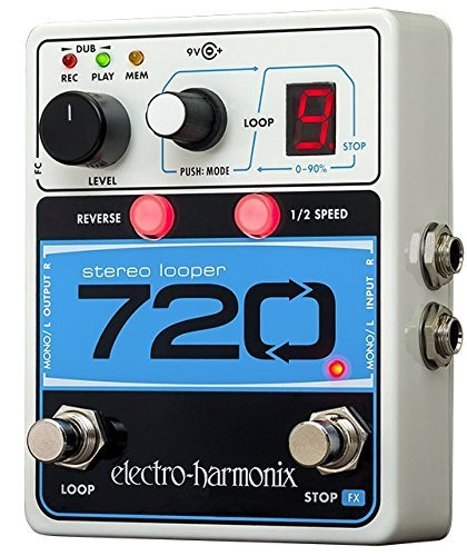 Electro Harmonix 720 STEREO LOOPER with 10 Loops & 12 Minutes Recording Time, 9.6DC-200 PSU included