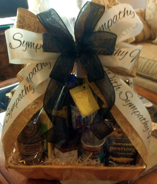 WITH SYMPATHY GOURMET FOOD GIFT BASKET