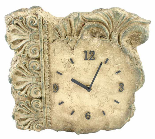Greek / Roman Stone Look Architectural Clock