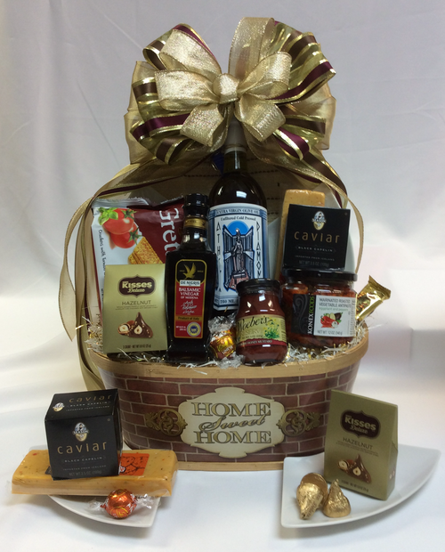 Home Sweet Home Brick Theme Gift Basket