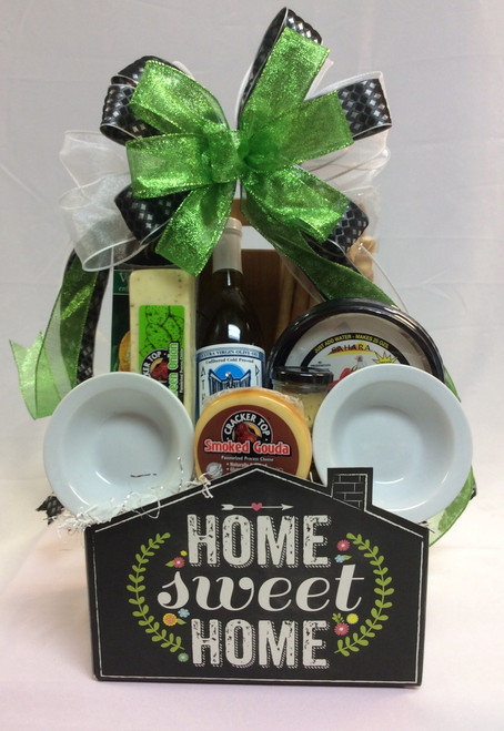 Home Sweet Home Chalkboard Theme Gift Basket
