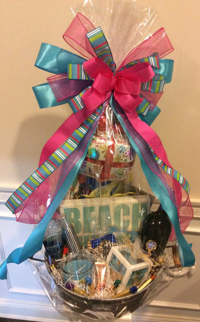 Beach Therapy Party Tub Gift Basket