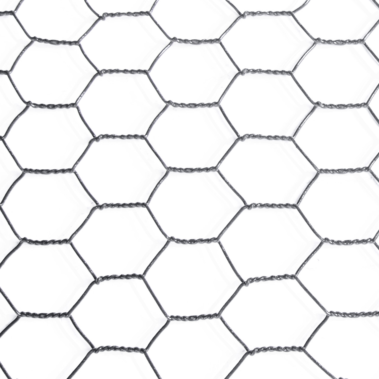 16 Gauge Black Vinyl Coated Hex / Poultry Netting Mesh 1.5\