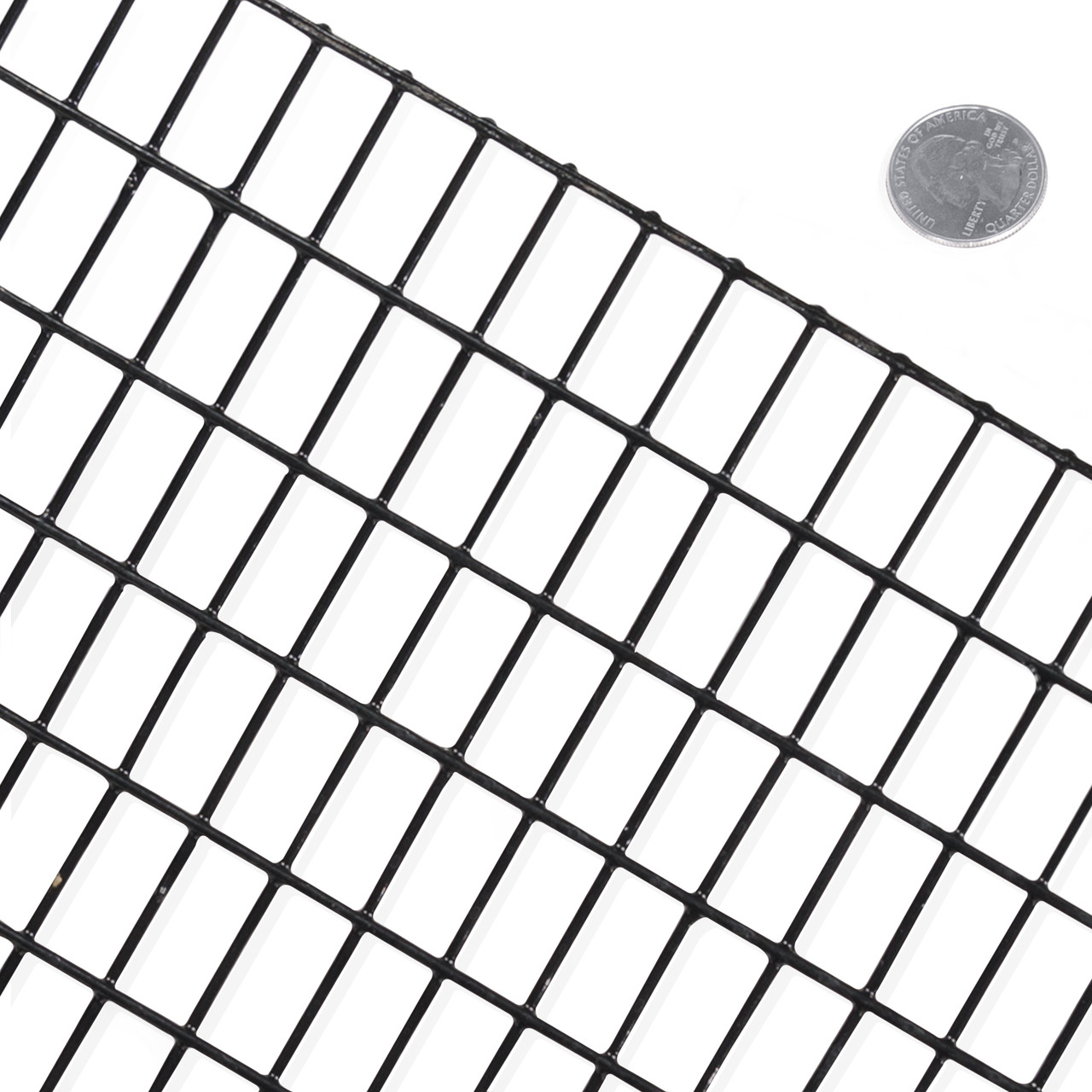 16 Gauge Black Vinyl Coated Welded Wire Mesh Size 0.5 inch by 1 inch ...