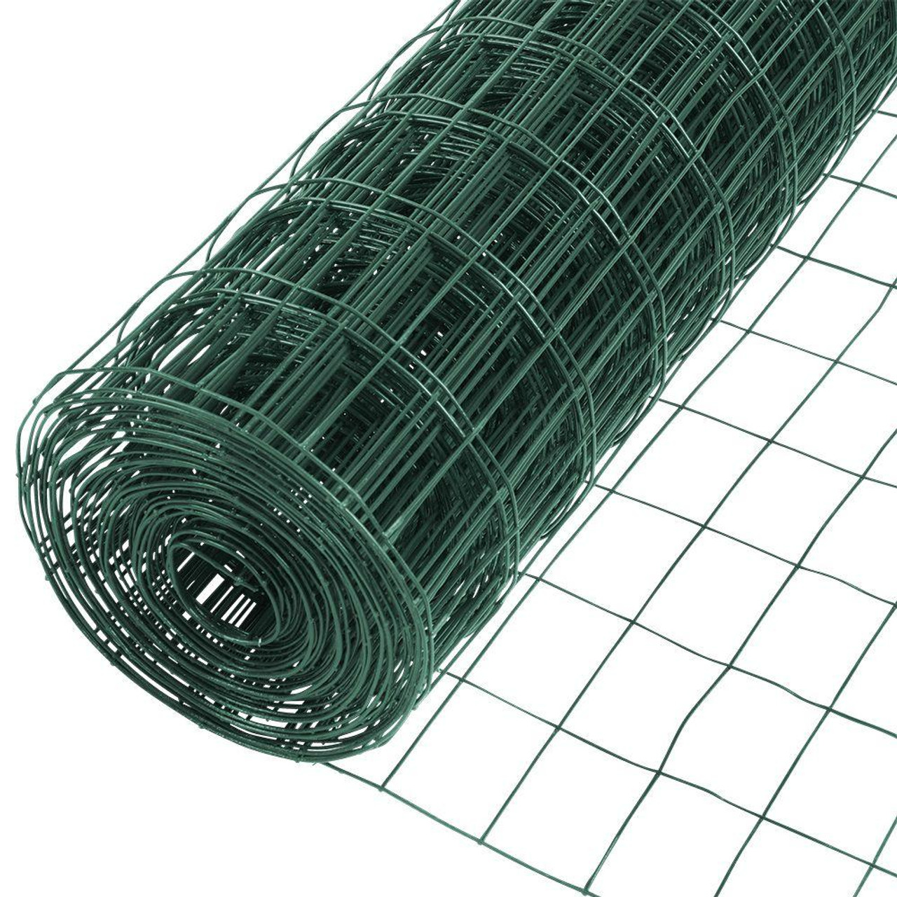 16 Gauge Green Vinyl Coated Welded Wire Mesh Size 2 inch by 3 inch ...
