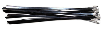 Tie- Stainless Steel Black Coated - 100 pack