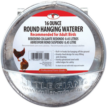 Little Giant Round Hanging Waterer, 1 pint