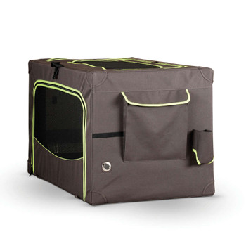 "CLASSY GO SOFT CRATE X-LARGE BROWN/LIME GREEN 28"" x 42"""