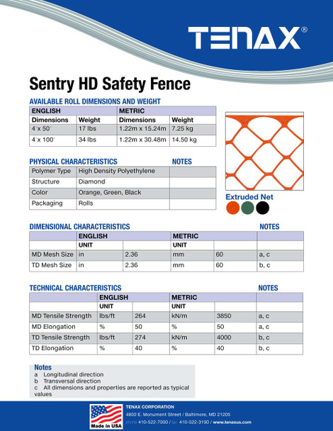 Sentry HD 4 Foot Tall